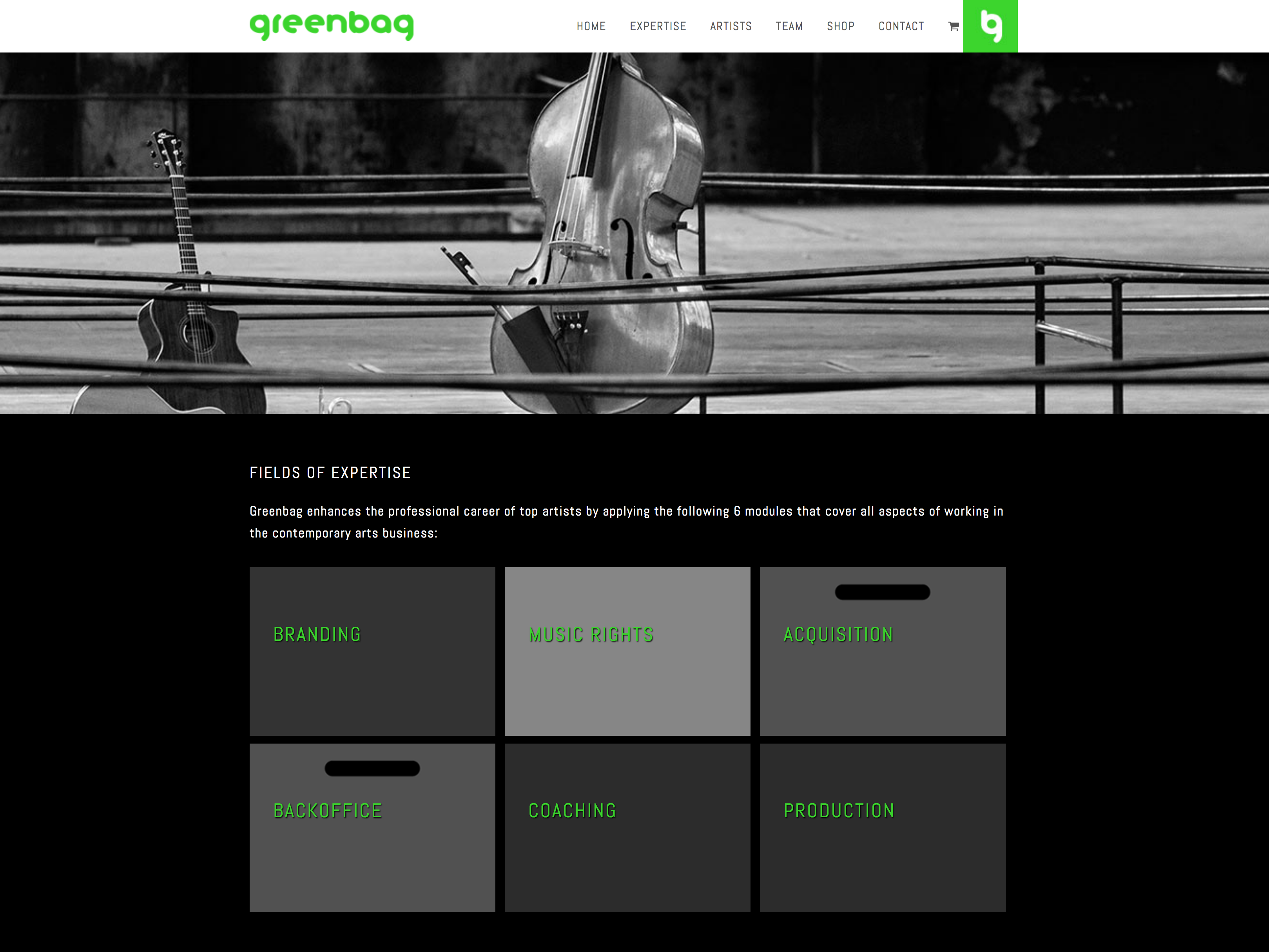 Greenbag Business services for top artists